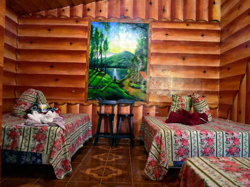Decoración en cabaña de montaña en El Pital