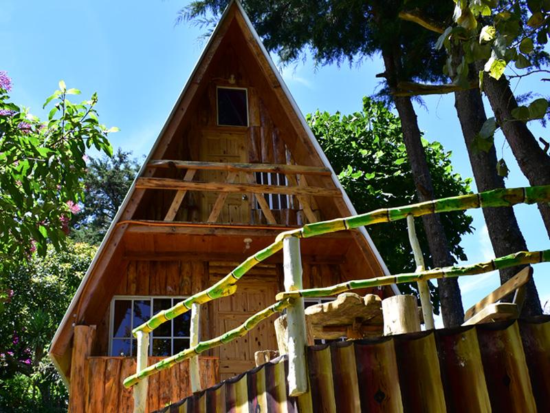 Cabaña rustica en la montaña de El Salvador