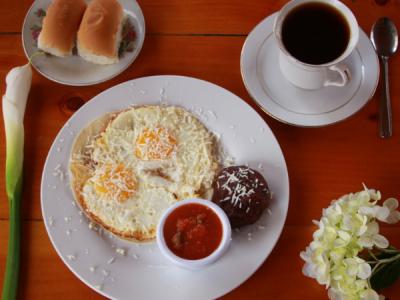 Huevos revueltos. Desayuno Maya